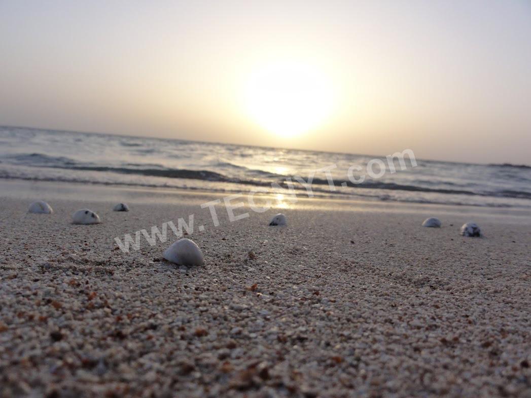 غروب الشمس في خليج سلمان